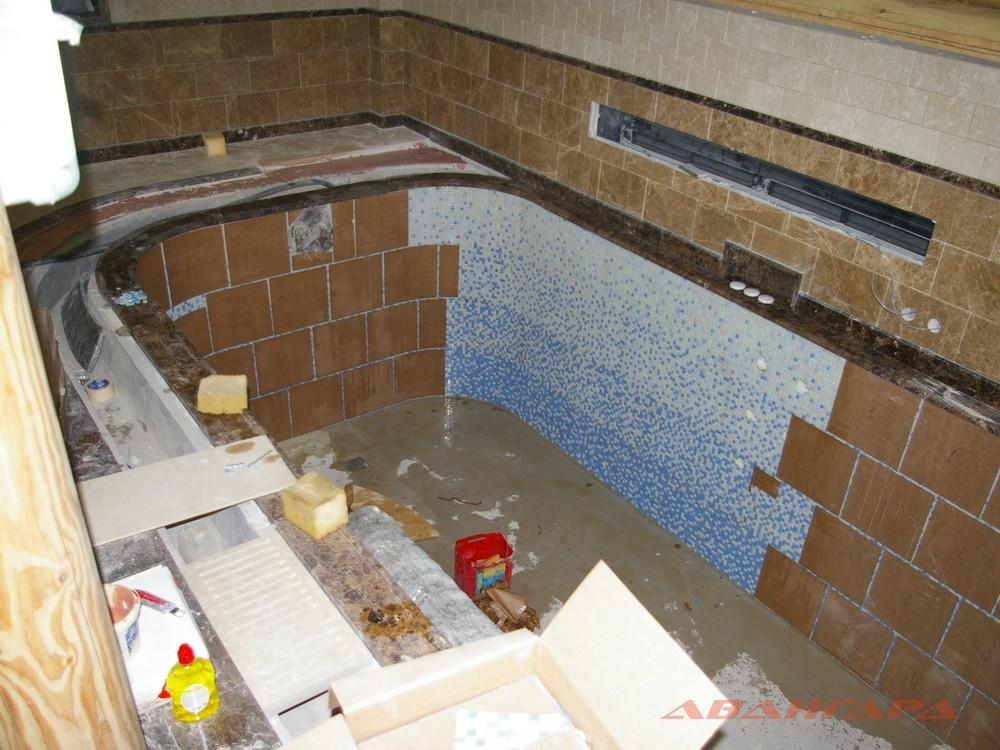 Как построить баню с бассейном своими руками 97