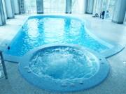 Строительства скиммерного бассейна с гидромассажной ванной