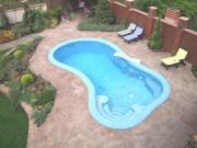 Ж/Б бассейн скиммерного типа, 2-х уровневый